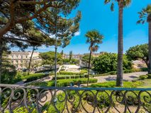 The Bellini Garden Park in Catania, Sicily royalty free stock image