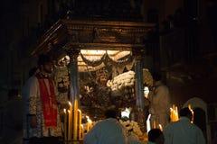 Catania, Italy - February 05, 2016 Saint Agatha of Sicily Stock Photo