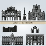 Catania landmarks and monuments Royalty Free Stock Photo