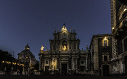 CATANIA by night: dome royalty free stock images