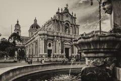 Catania no sepia imagem de stock