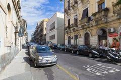 Catania - parking line Stock Photos