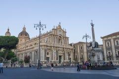 Catania, Piazza del Duomo Immagini Stock Libere da Diritti