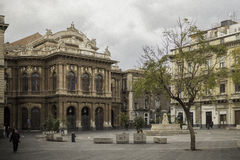Catania, piazza Teatro Massimo zdjęcia royalty free