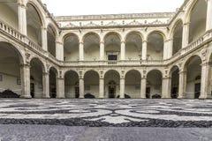 Catania, piazza UniversitÃ, chiostro Immagini Stock Libere da Diritti