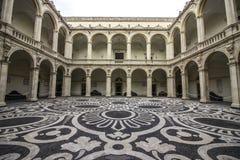 Catania, piazza UniversitÃ, chiostro Immagine Stock Libera da Diritti
