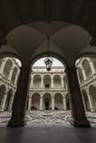 Catania, piazza UniversitÃ, chiostro Fotografia Stock Libera da Diritti