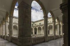 Catania, piazza UniversitÃ, chiostro Fotografie Stock