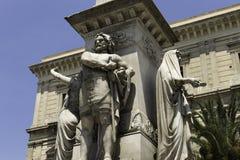 Catania, praça Stesicoro, monumento Vincenzo Bellini fotos de stock