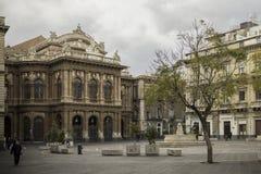 Catania, praça Teatro Massimo fotos de stock royalty free