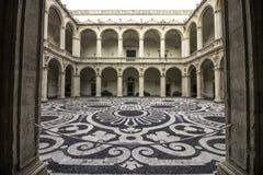 Catania, praça UniversitÃ, chiostro fotos de stock royalty free