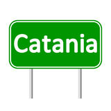 Catania road sign. Stock Photos