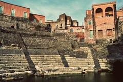 catania roman theatre Arkivfoto