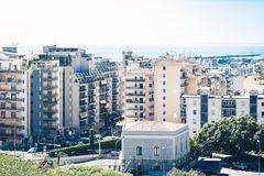 Catania rooftops, aerial cityscape, travel to Sicily, Italy.  stock images