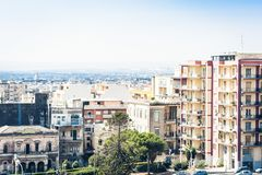 Catania rooftops, aerial cityscape, travel to Sicily, Italy.  stock image
