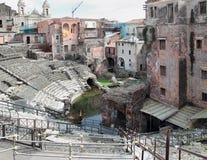 catania rzymski ruin teatr zdjęcia stock