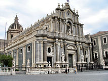 Catania - Saint Agata Cathedral. Catania cathedral dedicated to Saint Agata. Built on 1093 by the Normans on Roman ruins Stock Photography