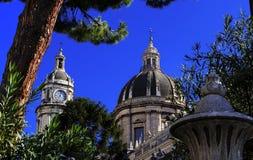 Catania Sicília - Itália a catedral de s agatha Foto de Stock Royalty Free
