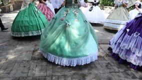 Catania Sicilia/balli dell'Italia in costume del XVIII secolo video d archivio