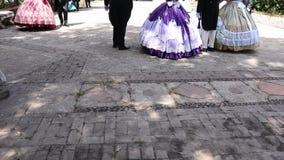 Catania Sicilia/balli dell'Italia in costume del XVIII secolo stock footage