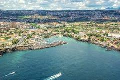 Catania Sicilien - Ognina marina Fotografering för Bildbyråer