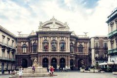 Catania, Sicily, Italy – august 08, 2018: Teatro Massimo Bellini, famous landmark stock image