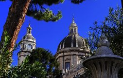 Catania Sicily - Italy the Cathedral of s. Agatha Royalty Free Stock Photo