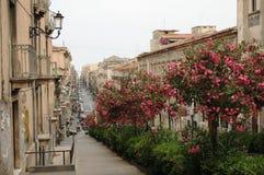 Catania-Straßen-Szene Lizenzfreies Stockfoto