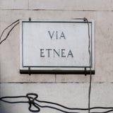 Catania, via Etnea Immagini Stock Libere da Diritti