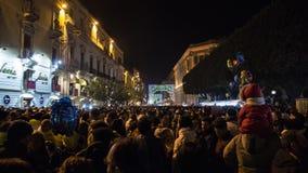 Catania Włochy, Luty, - 05, 2016 Świątobliwy Agatha Sicily Fotografia Stock