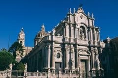 Catania w Sicily, świętego Agatha katedra Zdjęcia Royalty Free