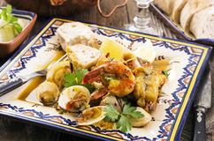 Cataplana with Seafood Royalty Free Stock Photos