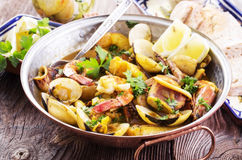 Cataplana with Seafood royalty free stock photo