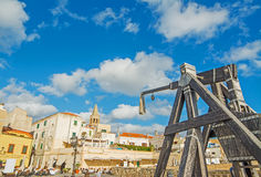Catapult in Alghero Royalty Free Stock Photography