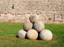 Catapult balls Royalty Free Stock Image