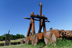 Catapult in the fields Stock Photography
