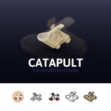 Catapult icon in different style Royalty Free Stock Images