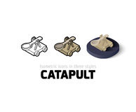 Catapult icon in different style Stock Images