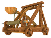 Catapult (Medieval). Illustration 3D Catapult Medieval army Royalty Free Stock Photo