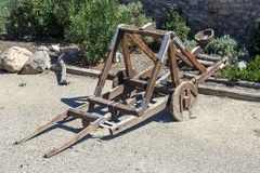 Catapult in the medieval Royalty Free Stock Images