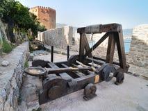 Catapult – reconstruction Royalty Free Stock Photo