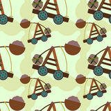 Catapult seamless background design Royalty Free Stock Image