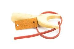 Catapult slingshot isolated on white background Stock Photos