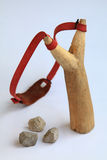 Catapult with stones. Royalty Free Stock Photos