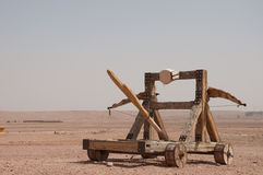 Catapult, used for many films royalty free stock photography
