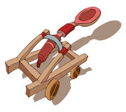 Catapult Vector Illustration. Stock Image