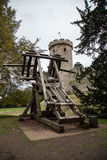 Catapult in Warwick Castle. United Kingdom Royalty Free Stock Image