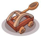 Catapulta de madera Imagen de archivo