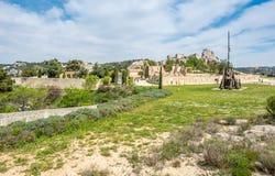 Catapulta em Les Baux-de-provence, França foto de stock