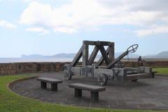Catapulte Alghero Italie Sardaigne image stock